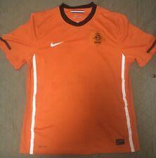 Authentic Nike Netherland Knvb Futbol Soccer Dri-Fit Jersey Football L Original