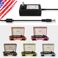 Power Adapter for Crosley Cruiser Portable Turntable Record Player CR8005 Series