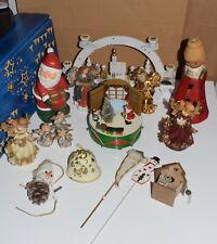 Weihnachten Konvolut Spieluhr Lichterbogen  Engel Santa Weihnachtsmann Glocke ua