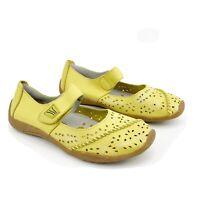 Ezywalkin Petal Women's Sz US7 Citrus Green Contour Sole Mary Jane Velcro Shoes