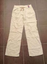 Linen Blend Straight Leg Regular Tailored Trousers for Women