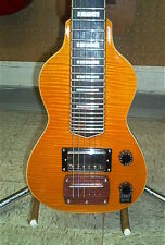 Dillion Non Pedal 6 String Lap Steel Guitar Flamed Maple Amber Lemon Drop