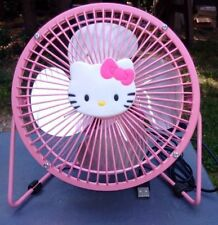 USB PINK HELLO KITTY 6 INCH FOUR METAL BLADES FAN PORTABLE USE IN OFFICE HOME
