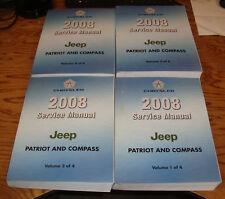 Original 2008 Jeep Patriot & Compass Shop Service Manual Vol 1 2 3 4 Set 08