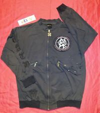BLACK LABEL Men's Full ZIP DISTRESSED METAL STUDDED Jacket SZ 2XL GREAT!