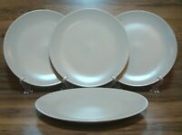 "SET OF 4 - IKEA DINERA - MATTE BEIGE - 10 1/4"" DINNER PLATES - EUC 10866 LN"
