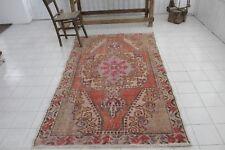 "Vintage Handmade Turkish Oushak Anatolia Red Area Rug 84""x40"""
