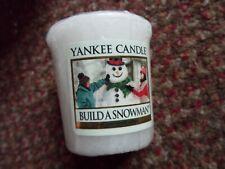 Yankee Candle votive - build a snowman - rare / HTF