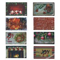 Zerbino Natale in Gomma Fotografico 3D Rosso Natalizio 45 x 75 cm