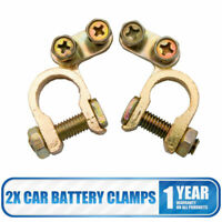 2x 12V Universal Positive Negative Car Battery Terminal Clamp Clip Connector