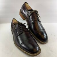 English Laundry Mens Oxford Dress Shoes Burgundy Lace Up Cap Toe Low Top 10.5