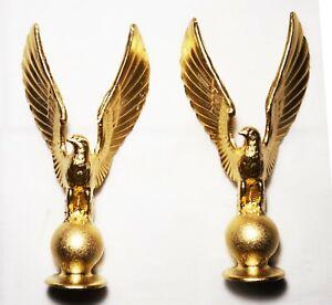 2 Metal finials-Eagle, Clock parts or furniture decoration