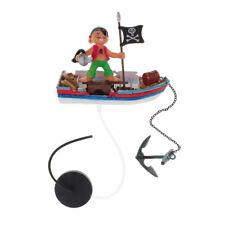 Aquarium Pirate Decorations Fish Tank Ornaments for Freshwater Saltwater