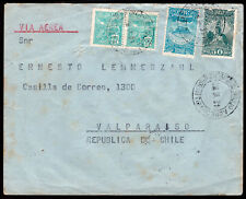 3953 Brazil To Chile Air Mail Cover 1931 Curitiba - Valparaiso