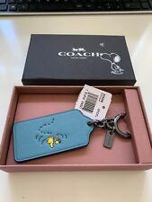 BNIB &BNWT Coach Peanuts Snoopy Woodstock Luggage/Key Fob new in BOX