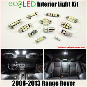 Fits 2006-2013 Land Rover Range Rover WHITE LED Interior Light Package Kit 21 PC