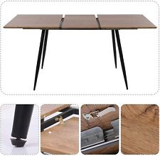 1.2-1.6M Rectangle Wood Extending Table Home Office Party Dining Table Steel Leg