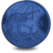 2017 British Virgin Islands $5 Blue Marlin Titanium Coin w/box & COA