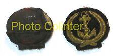 Officier Marinier : insigne de casquette - variante brodée - Marine Nationale -