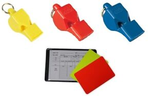 Set Of Whistles and Referee Card Football Basketball Fox 40 Sports Play Gift