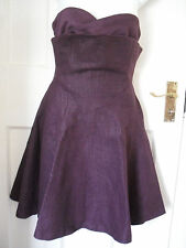 WOMENS VERSUS VERSACE BROWN KNEE LENGTH COCKTAIL DRESS SZ:26/40 UK-6-8(WD20