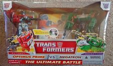 Optimus prime vs Megatron The Ultimate Battle + DVD New Sealed Box