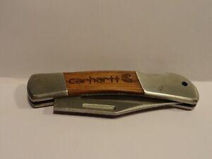 "Vintage Carhartt Advertising Folding Lock Back Pocket Knife 3 3/8"" Not Marked"