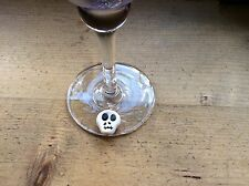 skull wine glass charm Halloween Party Goth Handmade
