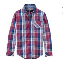 MENS TIMBERLAND ALLENDALE RIVER INDIGO L S SHIRT CHECK RED CASUAL XL SLIMFIT