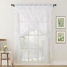 "No. 918 Alison Ruffled Floral Lace Sheer Priscilla 5-Piece Curtain Set, 58"" x"