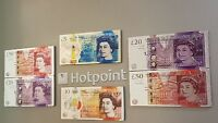 ASSORTED SHINY UK NOTE 3D METALLIC FRIDGE MAGNETS MONEY CURRENCY RANDOM MAGNET