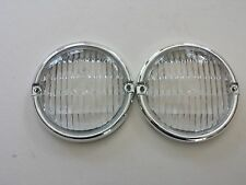 FOR JEEP CJ5 CJ7 CJ8 1976-1986 FRONT PARKING LAMP LENS OEM QUALITY PAIR NEW