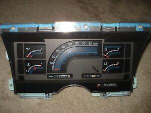 Chevrolet Astro, GMC Safari Van 1992 Instrument Cluster OEM - 112K