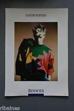 R&L Ex-Mag Advert: Browns, Claude Montana / Missoni, Retro French Fashion Design