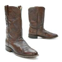 Dan Post Ladies 9 M Cowgirl Mid-Calf Brown Leather Cowboy Work Western Boots