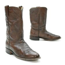 Dan Post Ladies 9 M Cowgirl Mid-Calf Brown Leather Cowboy Work Western Boots