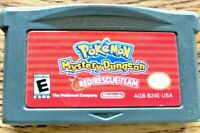 Pokémon Mystery Dungeon Red Team Rescue Authentic Nintendo Game Boy Advance GBA