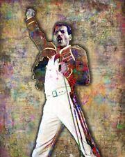 Freddie Mercury Music Art 16x20 Poster Freddie Mercury Queen Art Free Shipping