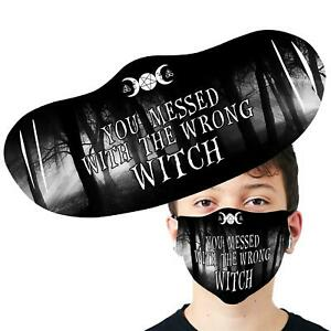 You Messed With The Wrong Witch Washable Face Cover Reusable Face Mask