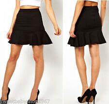 PARTY Clubbing Work Mermaid Fish Tail Sheath Slim Mini Skirt Dress BLACK Medium