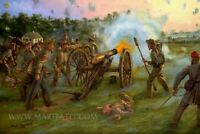 Mark Maritato Signed Civil War Art Print Thunder at Dawn Antietam Artillery CSA