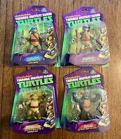 TMNT Ninja Turtles Figures Lot Complete Set Of 4 New MOC 2012 Leo Raph Don Mikey