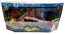SET Piraten Piratenschiff Schiff + Figuren Spielfiguren + Krabbe Türme Schlange