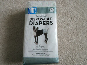 NEW Out Pet Care Disposable Diapers Small 16ct 8-15lbs