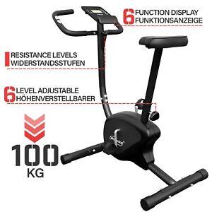 Physionics® Heimtrainer Fahrrad Fitness Hometrainer Trimmrad Ergometer Speedbike