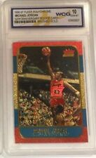"MICHAEL JORDAN FLEER 10TH ANNIVERSARY ""REFRACTOR BRUSHED GOLD"" ROOKIE CARD!"