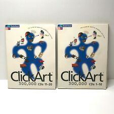 Broderbund Click Art 300,000 Computer ClipArt Bild Grafik Software CDs 1-20