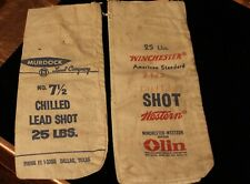 Lot Of ( 4 ) No. 7 1/2 Chilled Lead Shot Bags