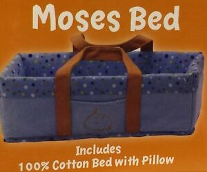 Baby GoGo Moses Bed with Pillow Cotton Little SIB Ages 3+ Doll Bed