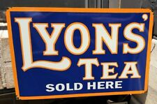 LYON'S TEA ENAMEL SIGN 900MM X 600MM (MADE TO ORDER) #37